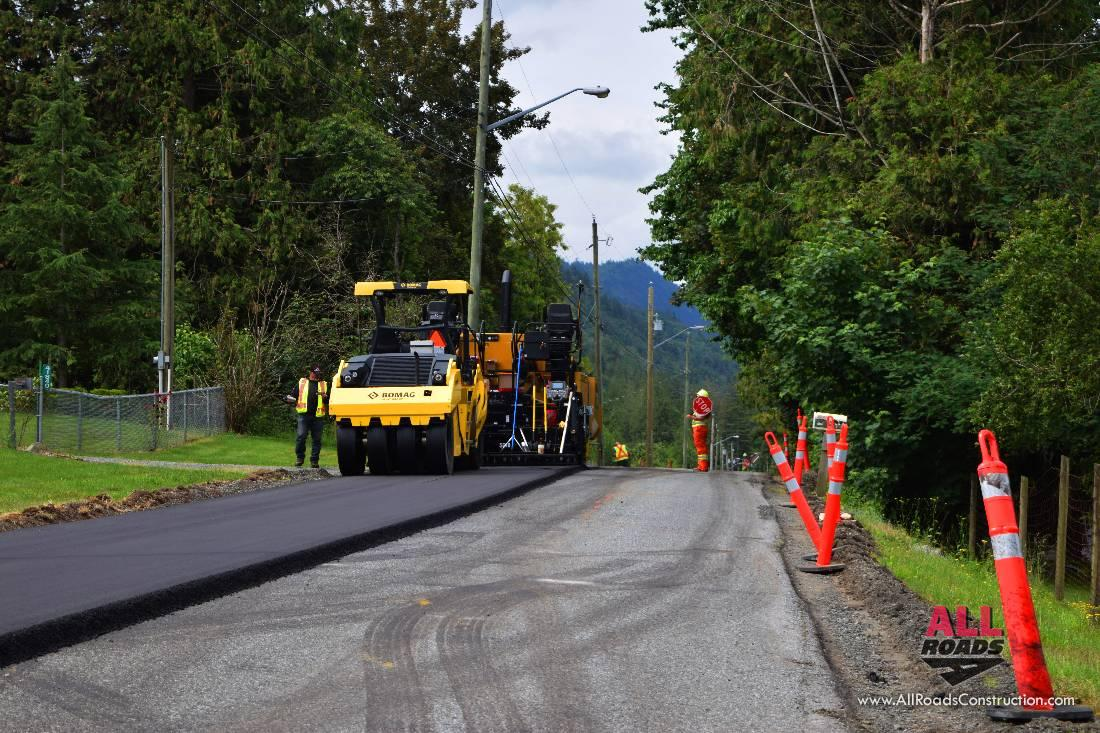 Road Asphalt Paving In Vancouver Metro Area And The Fraser Valley