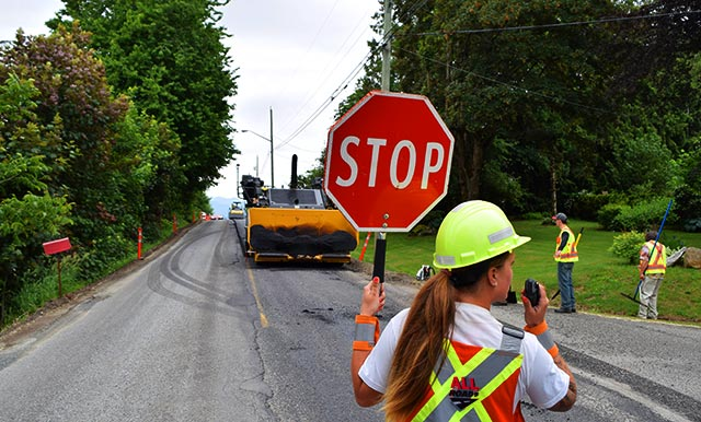 Municipal Infrastructure, Roads Construction, Road Pavings and Land Development Civil Construction projects in Vancouver area, British Columbia